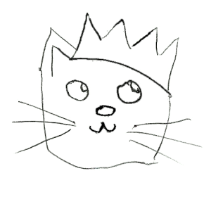 Cat-with-crown