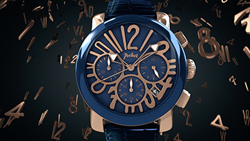 Facebook thumbnail for the 3D animated pocket watch advert