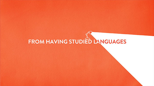 UEA Languages text only animation